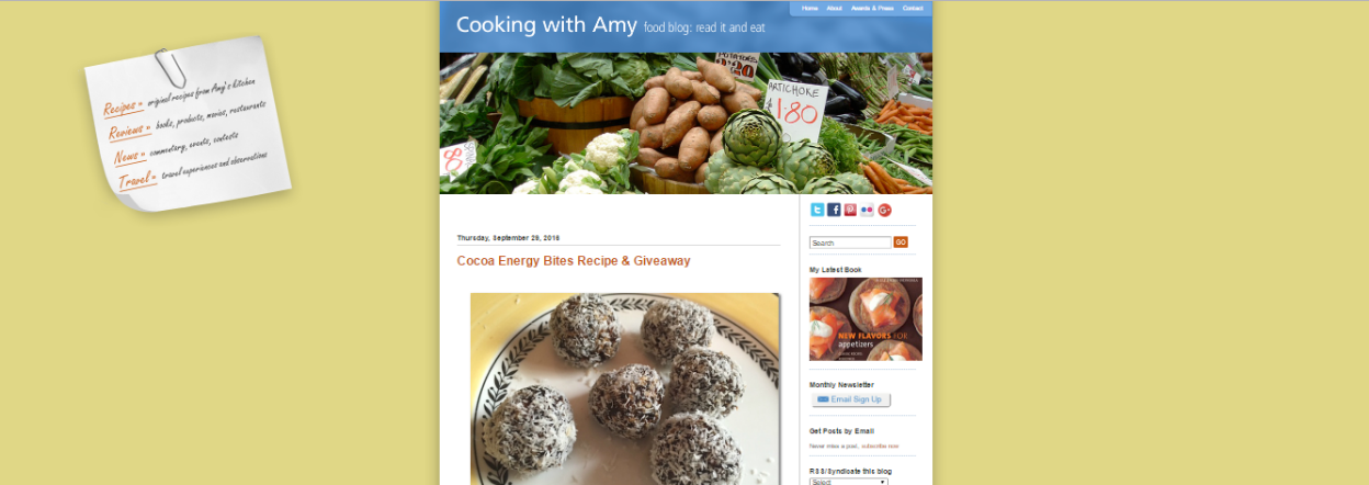 blogger for food blog