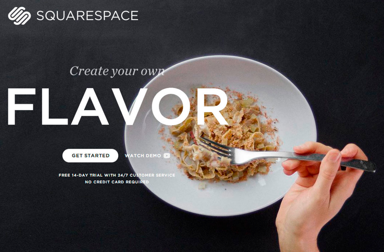 squarespace for food blog