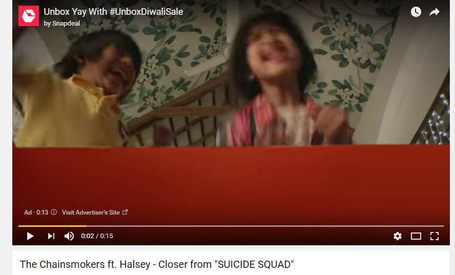 The Advertisements that appear before any video on YouTube is making money for the video creator, in this case, the creator of 'The Chainsmokers ft. Halsey'
