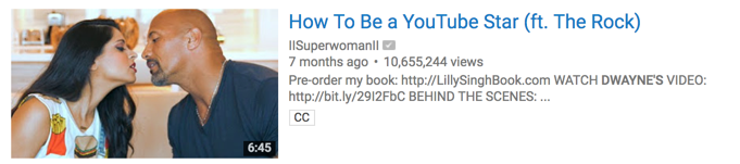 Lilly Singh (Superwoman) clearly wins at building an anticipation about what happened when she met Dwayne Johnson