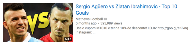 The thumbnail clearly sets up the stage to watch the top goals by 2 of the best strikers in football.