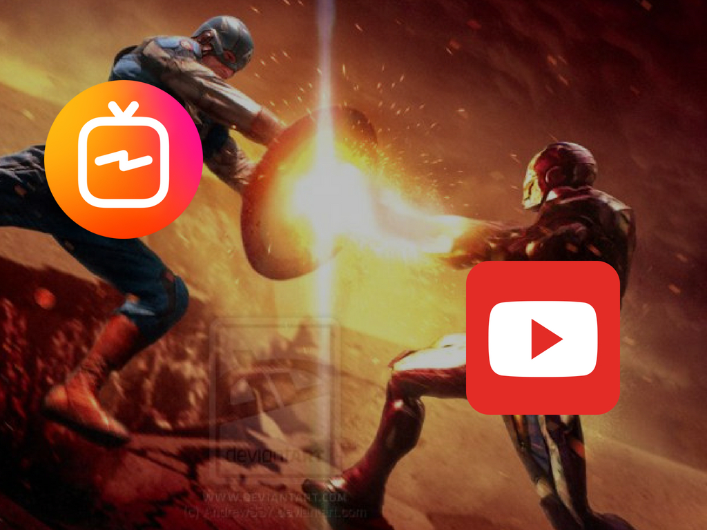 It appears like a full on battle between IGTV (vertical video) vs YouTube (landscape video). Pic courtesy - andrewss7.deviantart