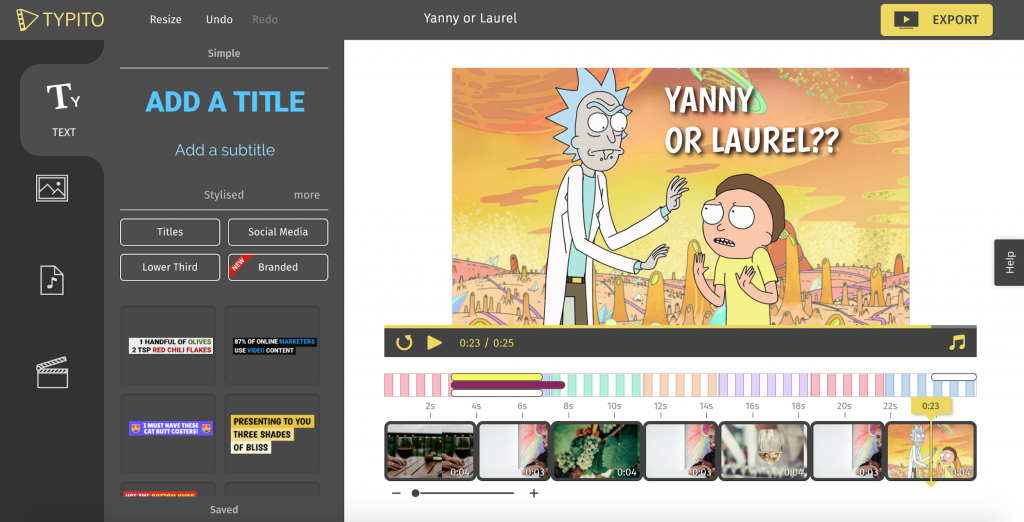 How to add subtitles and captions to videos typito rick and morty on typito ccuart Image collections