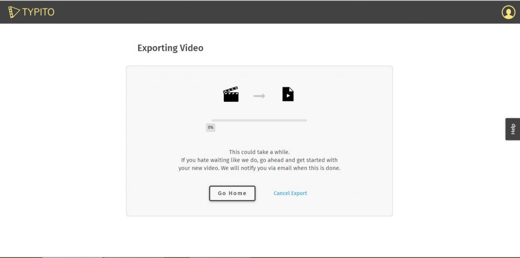 Typito Video Export