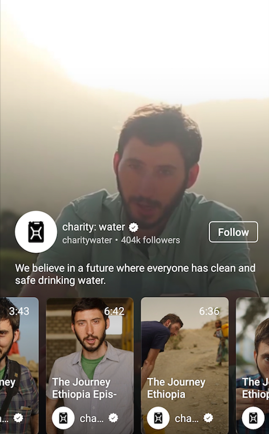 IGTV Charity:Water