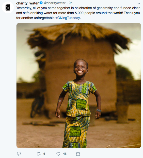 Charity Water - Twitter