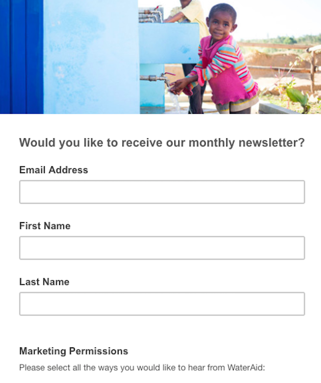 Wateraid Newsletter