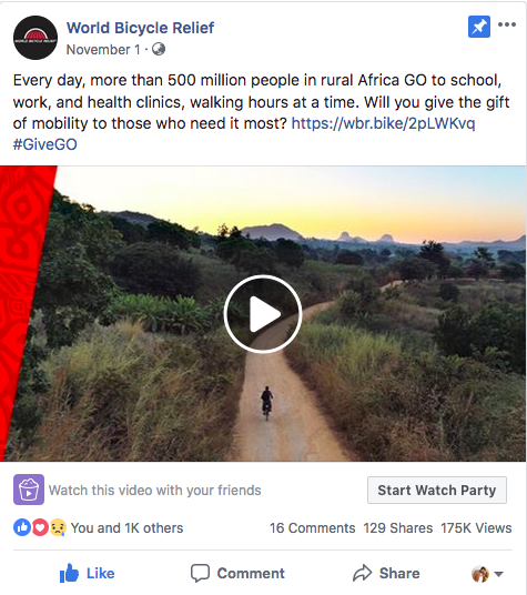 Facebook video: World Bicycle Relief
