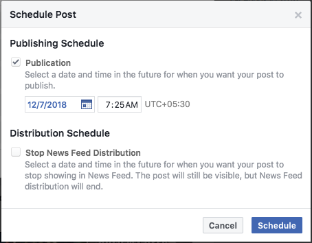 Facebook Post Scheduler