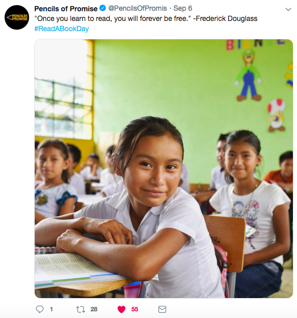 Pencils of Promise - Tweet