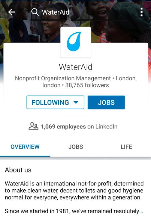 Profile of WaterAid