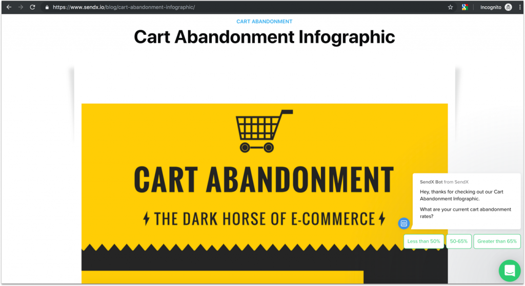 Link to the page: https://www.sendx.io/blog/cart-abandonment-infographic/