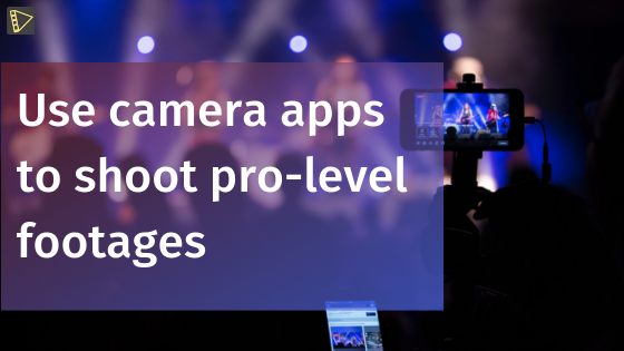 Use camera apps for event video marketing