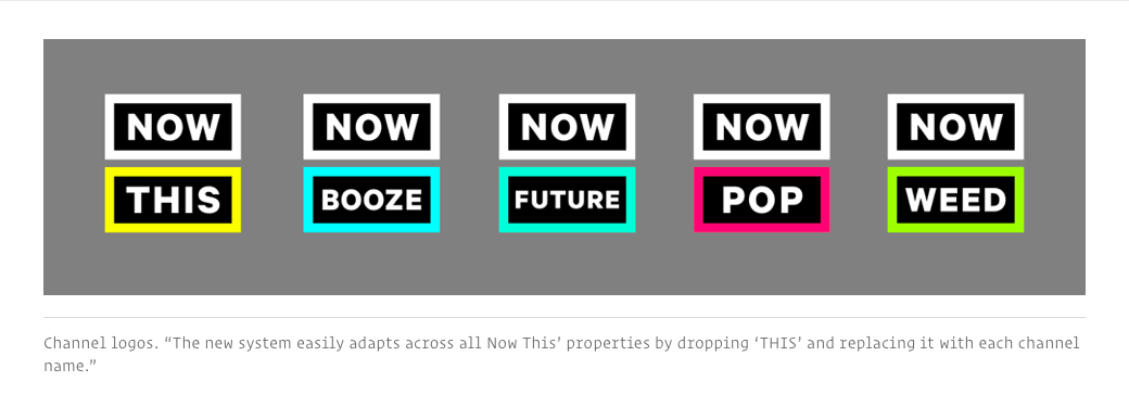 NowThis and its channel logos