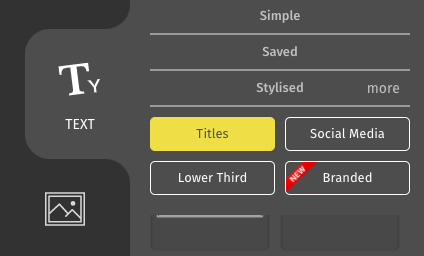 Titles Menu from the text tab