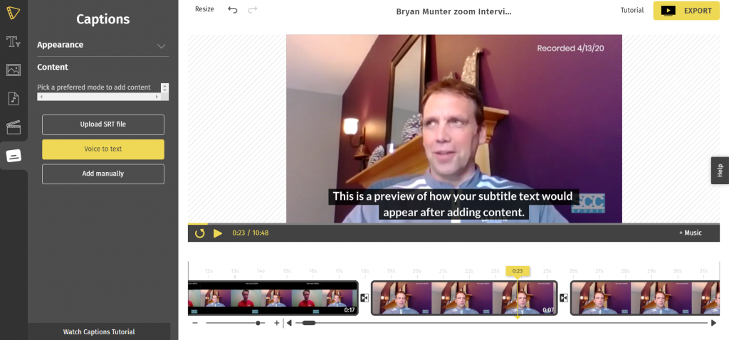 Typito Images - Add Captions to Zoom Video