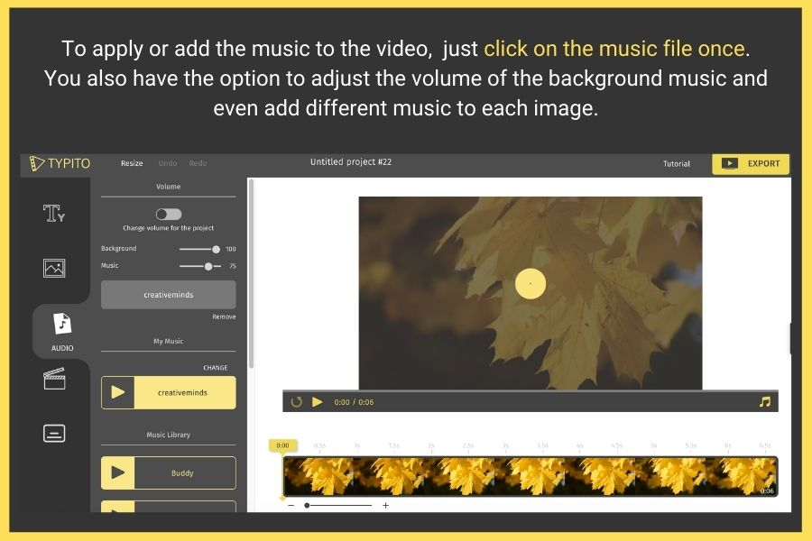 apply music to video online
