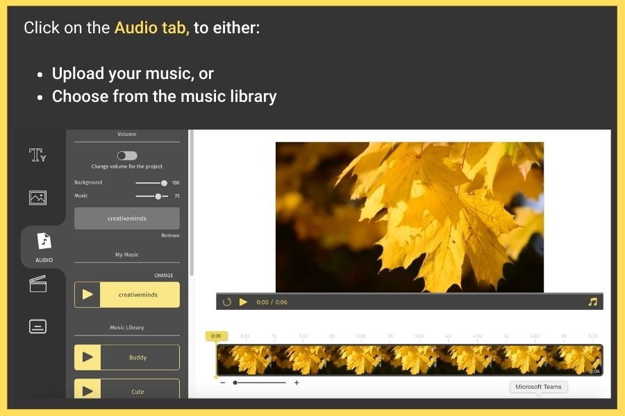 how to add music to a video online
