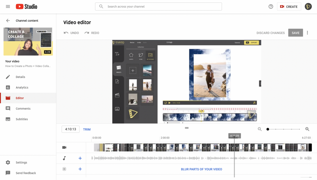 Typito Images - How to Edit Videos on Youtube Studio