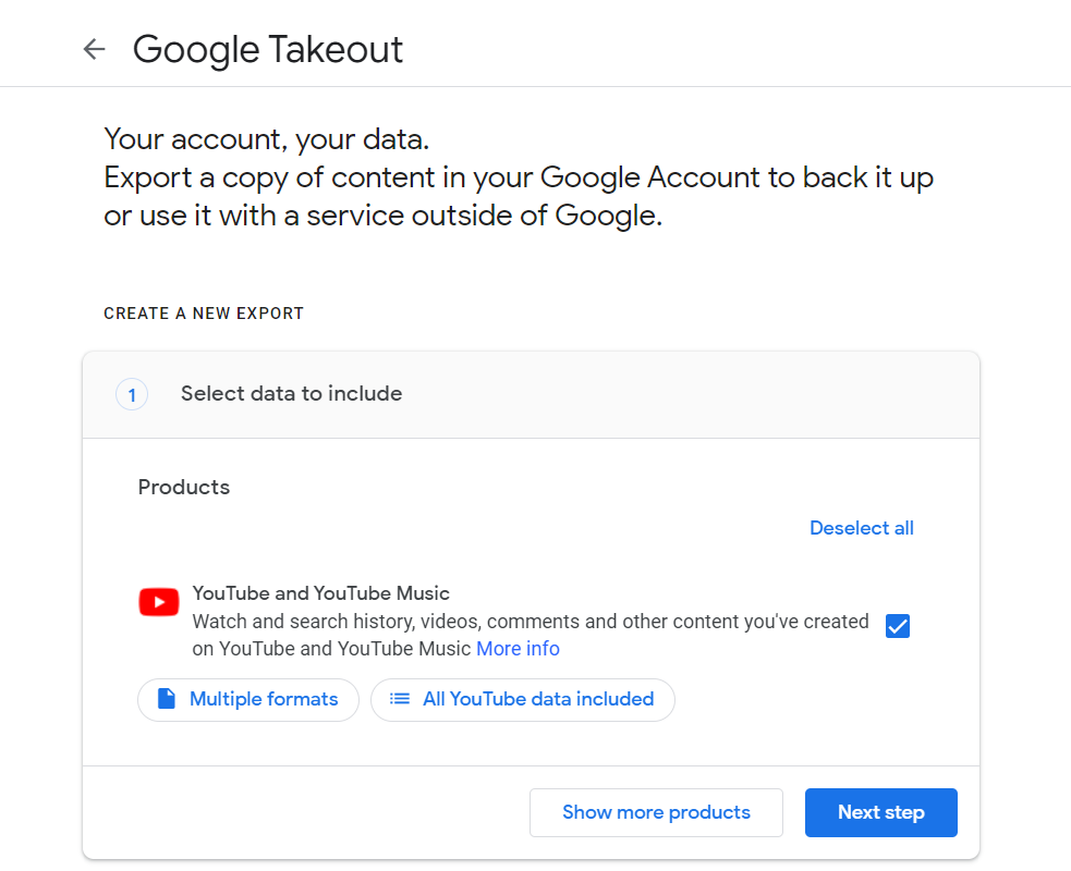 How to download your own Youtube videos: Select Youtube and Youtube Music