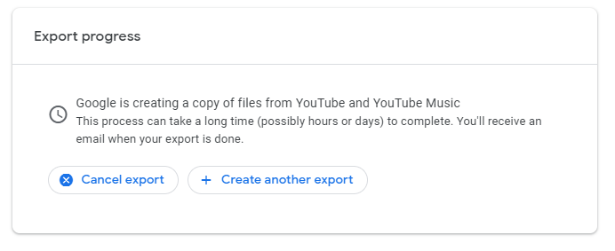 How to download your own Youtube videos: Your files will begin to export