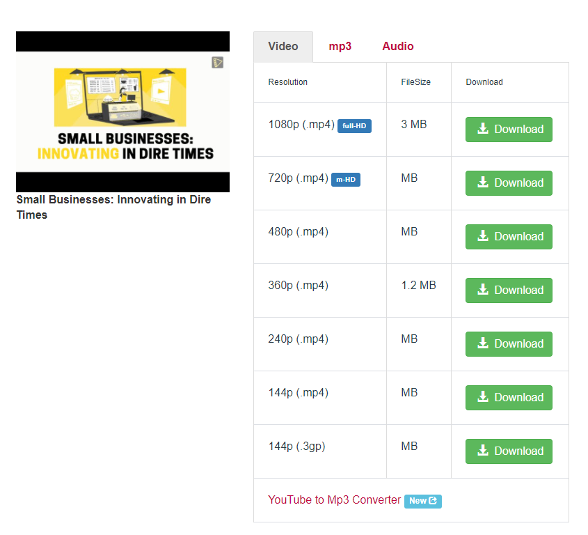 How to download your own Youtube videos: Choose a suitable download quality