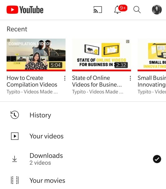 How to download your own Youtube videos: View the downloads in your Youtube library