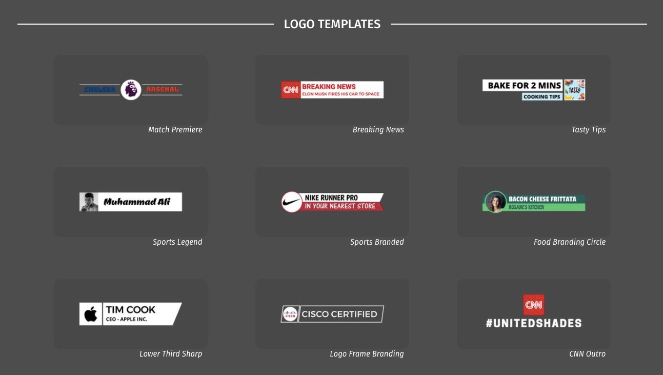 How to make cool video edits: Logo Templates