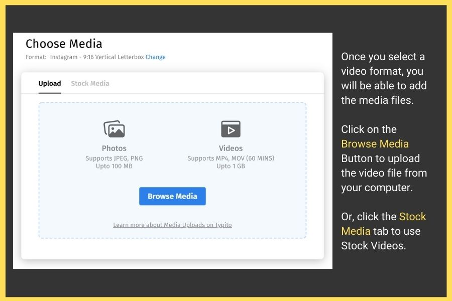 How to Make a Video Online for Free Quickly and Easily: Step 2 Upload your footage.