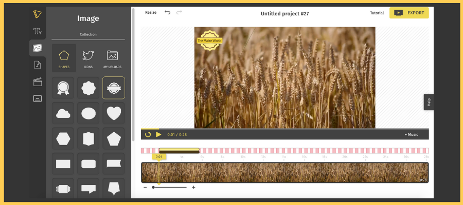 How to Make a Video Online for Free Quickly and Easily: Add Icons and shapes to your video.
